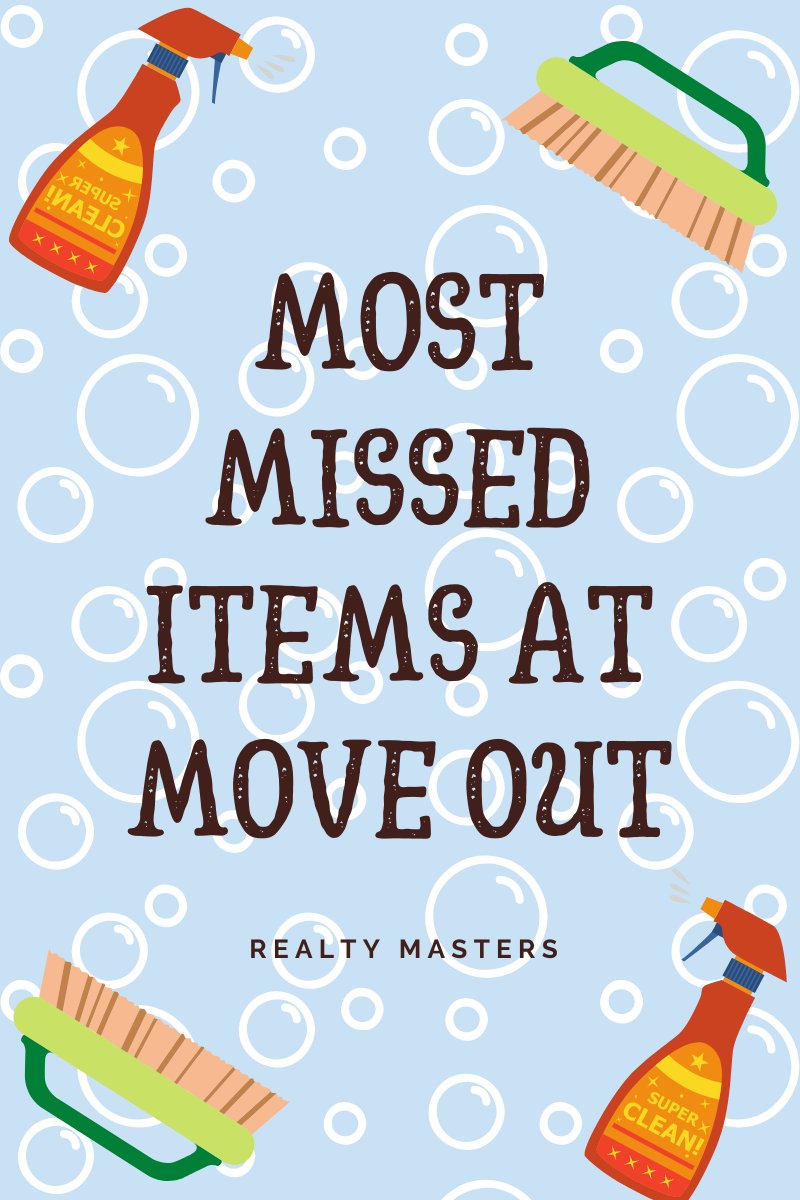 Most Missed Cleaning Items at Move Out