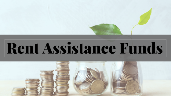 rent assistance funds with coin jar